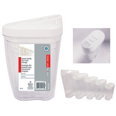 Space saving dry food storage 1.5L/1L/0.75L/0.5L/0.35L