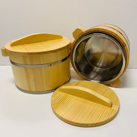 Deluxe Wood TOFU Pudding Container + Stainless Inner Bowl