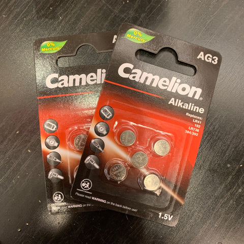 CAMELION 1.5V AG3 ALKALINE WATCH BATTERY