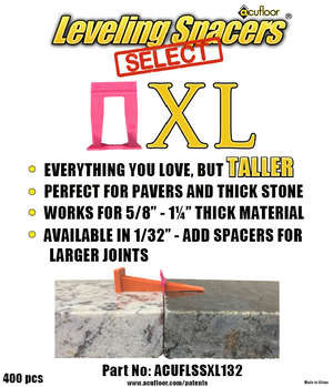 "XL 1/32"" Select Leveling Spacers® (400 ct Bag)"