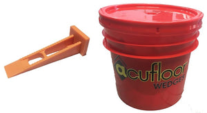 Reusable Window Wedges - Bulk 500 pcs in 3.5 Gallon Bucket w/ Lid - Acufloor