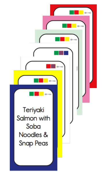 Color Combo Meal Cards - Digital Download