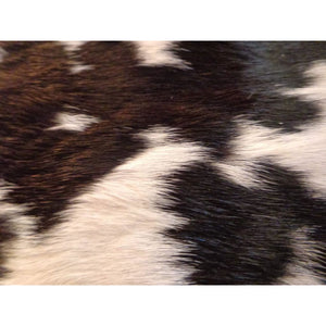Calfskin Rug - Beautiful Black and White Pattern - Approx 74 cm x 74 cm - Natural Luxury Designer Hide by Narbonne Leather Co - 19MARCS105