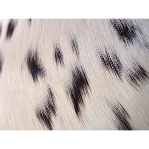 Calfskin Rug - Beautiful Black and White Speckled Pattern - Approx 65 cm x 73 cm - Natural Luxury Designer Hide by Narbonne Leather Co -
