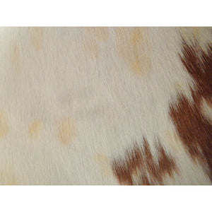 Calfskin Rug - Beautiful Brown and White Pattern - Approx 101 cm x 104 cm - Natural Luxury Designer Hide by Narbonne Leather Co - 19MARCS080