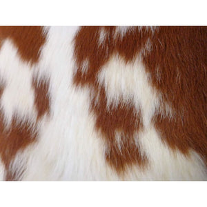 Calfskin Rug - Beautiful Brown and White Pattern - Approx 86 cm x 84 cm - Natural Luxury Designer Hide by Narbonne Leather Co - 19MARCS122