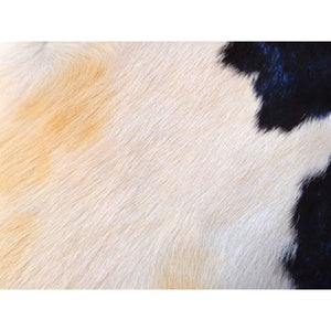 Calfskin Rug - Beautiful Tricolour Pattern - Approx 94 cm x 95 cm - Natural Luxury Designer Hide by Narbonne Leather Co - 19MARCS124