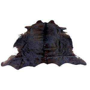 Cowhide Rug by Narbonne Leather - Natural Black Hide - Approx 202 cm x 169 cm - Luxury Designer Hide - 15MARNBLK16
