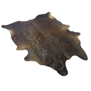 Cowhide Rug by Narbonne Leather - Natural Black Hide - Approx 207 cm x 173 cm - Luxury Designer Hide - 15MARNBLK14