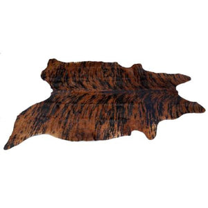 Cowhide Rug by Narbonne Leather - Printed Exotic Dark Brown - Approx 213 cm x 174 cm Natural Luxury Designer Hide - 15MAREXP08