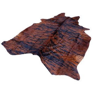 Cowhide Rug by Narbonne Leather - Printed Exotic Dark Brown Hide - Approx 218 cm x 177 cm - Luxury Designer Hide - 15MAREXP01