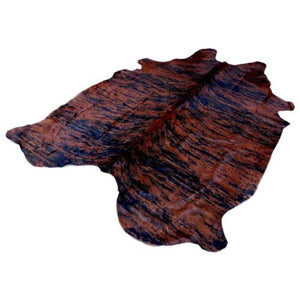 Cowhide Rug by Narbonne Leather - Printed Exotic Dark Brown Hide - Approx 235 cm x 174 cm - Luxury Designer Hide - 15MAREXP10