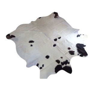 Cowhide Rug Natural by Narbonne Leather - Beautiful Black Cream and Brown Pattern - 193 cm x 193 cm - Luxury Designer Hide - 17MARMTRI73