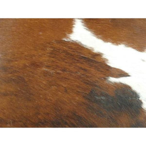 Cowhide Rug Natural by Narbonne Leather - Beautiful Brown and White Pattern - 200 cm x 164 cm - Luxury Designer Hide - 17MAR23BRW48