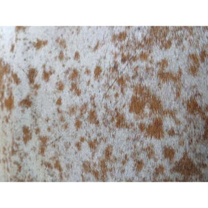Cowhide Rug Natural by Narbonne Leather - Beautiful Speckled Brown and White Pattern - 217 cm x 174 cm - Luxury Designer Hide - 17MARMSPK60