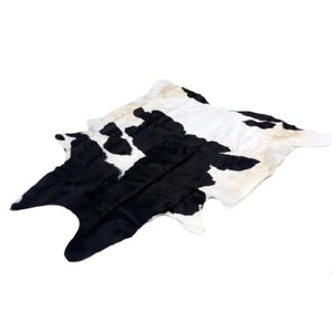Cowhide Rug - Small Black and White Fresian - Approx2.8 Sq M / 202 cm x 193 cm - Natural Luxury Designer Hide by Narbonne Leather Co -