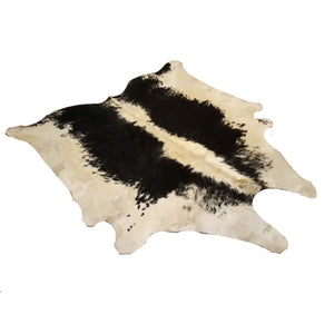 Narbonne Leather Co Authentic Cowhide Rug - Beautiful Black And Cream Speckled - 41 P2-233 Cm X 219 Cm - Luxurious Soft Natural Cow Hide -