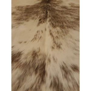 Narbonne Leather Co Authentic Cowhide Rug - Beautiful Grey Champagne Speckled - 207 Cm X 199 Cm - Luxurious Soft Natural Cow Hide -