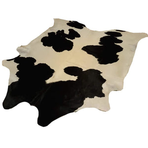 Narbonne Leather Co Authentic Cowhide Rug - Classic Black And Cream - 4 88 M2- 260 Cm X 231 Cm - Luxurious Soft Natural Cow Hide -