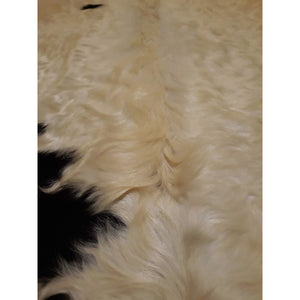 Narbonne Leather Co Authentic New Cowhide rug - Classic Black and Cream - 44 50 sq ft - 250 cm x 207 cm - luxurious soft natural cow hide -