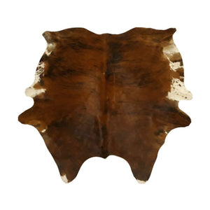 Narbonne Leather Co Authentic New Cowhide rug - Exotic Brown Brindle - 3 43 m2-215 cm x 191 cm - luxurious soft natural cow hide -