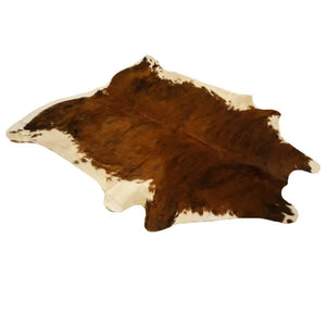 Narbonne Leather Co Authentic New Cowhide Rug - Exotic Brown Brindle - 3 49 M2- 222 Cm X 194 Cm - Luxurious Soft Natural Cow Hide -