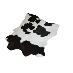 Narbonne Leather Co Calfhide Rug - Black White - 97 cm x 79 cm Natural Leather Hide - 18FEBCS04