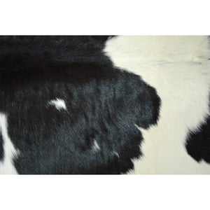 Narbonne Leather Co Calfhide Rug - Black White - 98 cm x 80 cm Natural Leather Hide - 18FEBCS03