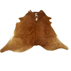 Narbonne Leather Co Genuine Cowhide Rug - beautiful Brown and White - 3 1 m2- 218 cm x 195 cm - natural affordable luxury - 18OCT34BRWH09