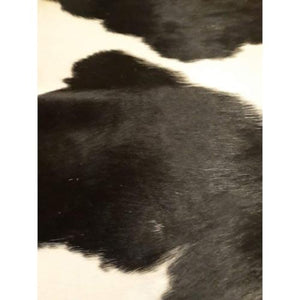 Narbonne Leather Co Genuine Cowhide Rug - Classic Black And Cream - 41 75 Sq Ft - 245 Cm X 202 Cm - Natural Affordable Luxury -