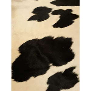 Narbonne Leather Co Genuine Cowhide Rug - Classic Black And Cream - 55 75 Sq Ft - 251 Cm X 247 Cm - Natural Affordable Luxury -