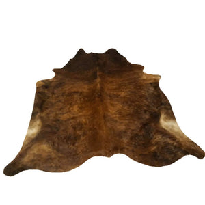 Narbonne Leather Co Genuine Cowhide Rug - Exotic Brown Brindle - 3 33 M2- 215 Cm X 195 Cm - Handpicked For You - 18Oct34Ex22