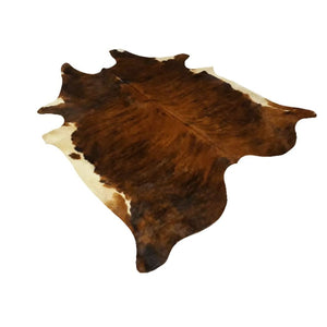Narbonne Leather Co Genuine Cowhide Rug - Exotic Brown Brindle - 35 Sq Ft - 212 Cm X 188 Cm - Handpicked For You - 18Oct34Ex25