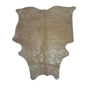 Narbonne Leather Co Genuine Cowhide Rug - Metallic Spotted Lime - 31 50 Ft2- 217 Cm X 191 Cm - Natural Affordable Luxury - 18Octmet02
