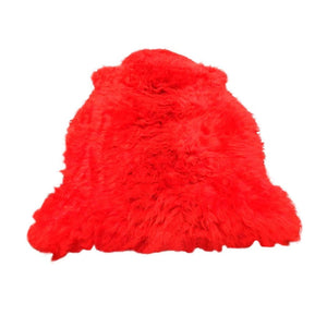 Narbonne Leather Co Ltd Premium South American Sheepskin Rug - Red - Approx 93 Cm X 57 Cm - 14Febssskinrd1