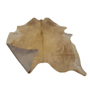Narbonne Leather Co Natural Cowhide Rug - Beautiful Beige - 34 50 Sq Ft - 202 Cm X 175 Cm - Luxury Designer Hide - 18Oct34Bei35