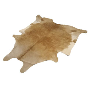 Narbonne Leather Co Natural Cowhide Rug - Beautiful Beige And White - 3 06 M2- 215 Cm X 198 Cm - Luxury Designer Hide - 18Oct34Bewh57