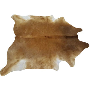 Narbonne Leather Co Natural Cowhide Rug - Beautiful Brown - 40 M2- 219 Cm X 210 Cm Luxury Designer Hide - 18Oct34Brn45