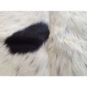 Narbonne Leather Co Natural Cowhide Rug - Black And Cream - 215 Cm X 189 Cm Luxury Designer Hide - 17Marmbkcr09