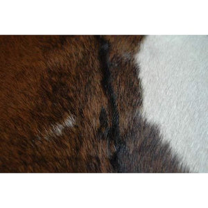 Narbonne Leather Co Natural Goatskin Rug - Beautiful Tricolour Pattern - Approx 95 Cm X 79 Cm - Luxury Designer Animal Skin - 18Febgt24
