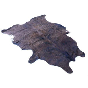 Narbonne Leather Cowhide Rug - Small Brindle/Exotic Pattern - Approx 183 cm x 147 cm - Luxury Designer Cowhide - 15APRMED09