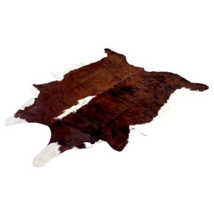 Narbonne Leather Cowhide Rug - Tricolor Pattern - Approx 220 cm x 196 cm - Luxury Designer Hide - 16MAYTRIN31