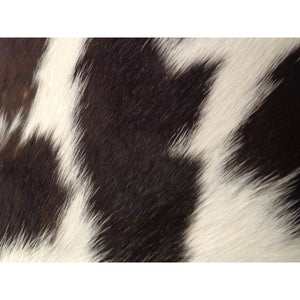 Natural Calfhide Rug - Beautiful Black and White Pattern - Approx 67 cm x 48 cm - Luxury Designer Hide by Narbonne Leather Co - 19MARCS086