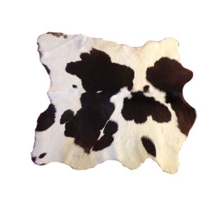 Natural Calfhide Rug - Beautiful Black and White Pattern - Approx 86 cm x 76 cm - Luxury Designer Hide by Narbonne Leather Co - 19MARCS108