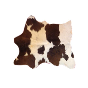 Natural Calfhide Rug - Beautiful Dark Brown and White Pattern - Approx 79 cm x 70 cm - Luxury Designer Hide by Narbonne Leather Co -