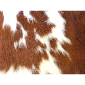 Natural Calfhide Rug - Beautiful Tricolour Pattern - Approx 95 cm x 86 cm - Luxury Designer Hide by Narbonne Leather Co - 19MARCS126