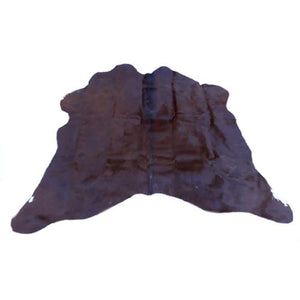 Natural Cowhide Rug - Small Dark Brown Pattern - Approx 140 cm x 130 cm - Luxury Designer Hide by Narbonne Leather - 16APRSML02