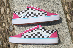 2018 Golf Wang vans Old Skool Checkered Designer Shoes zapatillas de deporte  Womens mens Trainers Pink Green Casual Canvas Sports Sneakers d8b4bf633