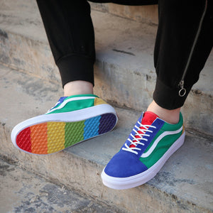 41f15eff7567 2018 Vans old skool Rainbow canvas Casual Running Sneakers Best Quality  Colorful Soles men women Skateboarding Shoes US 4.5-10.5