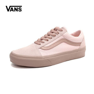 463a0325c4 2018 Classic Vans Original Old Skool Skateboarding Casual Shoes Women s  Pink Low-tops Leisure Sneakers Breathable Fencing Shoes